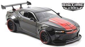 BTM 2016 シボレーカマロ ワイドボディー ブラック/レッドストライプ (ミニカー)