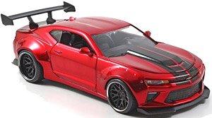 BTM 2016 シボレーカマロ ワイドボディー レッド/ブラックストライプ (ミニカー)