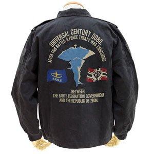 機動戦士ガンダム ア・バオア・クー刺繍ツアージャケット BLACK L (キャラクターグッズ)