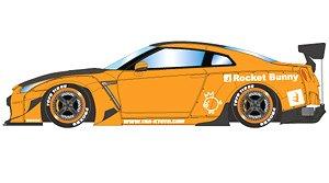 Rocket Bunny R35 GT-R オレンジ/カーボンボンネット・カーボンルーフ (ミニカー)
