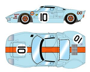 `Gulf Racing J.W.Automotive` LM 24h 1968 Winner No.10 (ミニカー)