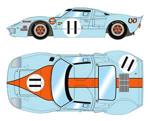 `Gulf Racing J.W.Automotive` LM 24h 1968 Winner No.11 (ミニカー)