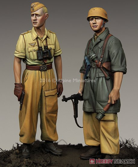 WWII 独 イタリア戦線の第1降下猟兵師団 (2体セット) (熱帯軍装) (プラモデル)