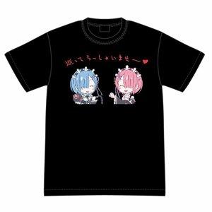 Re:ゼロから始める異世界生活 ラム&レムの逝ってらっしゃいませ~ Tシャツ M (キャラクターグッズ)