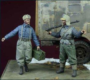WWII 独 空軍 地上クルーセット (2体セット) (冬季軍装) 1942-1945 (プラモデル)