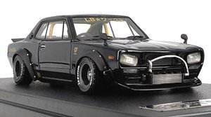 LB-WORKS Hakosuka 2Door Black (ミニカー)