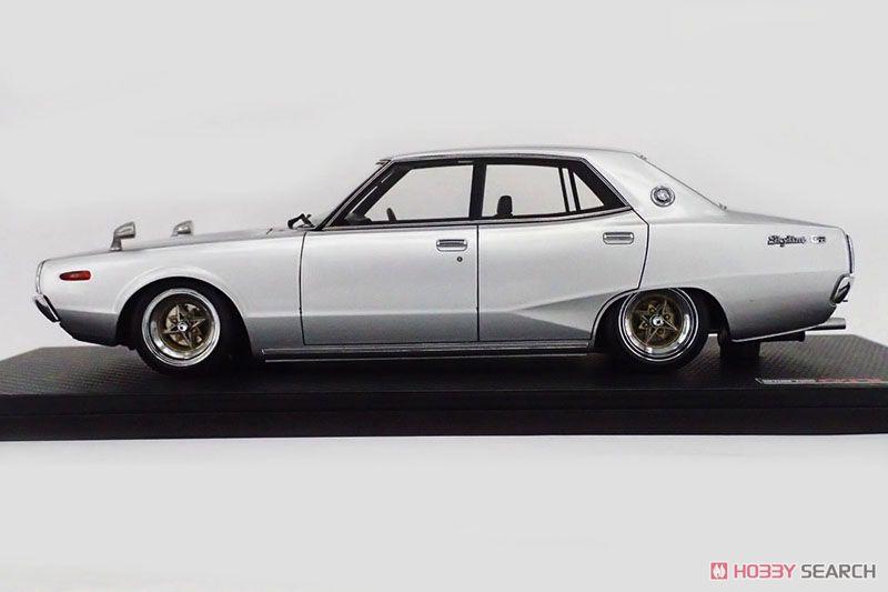 Nissan Skyline 2000 GT-X (GC110) Silver ※Techno Phantom-Wheel (ミニカー)