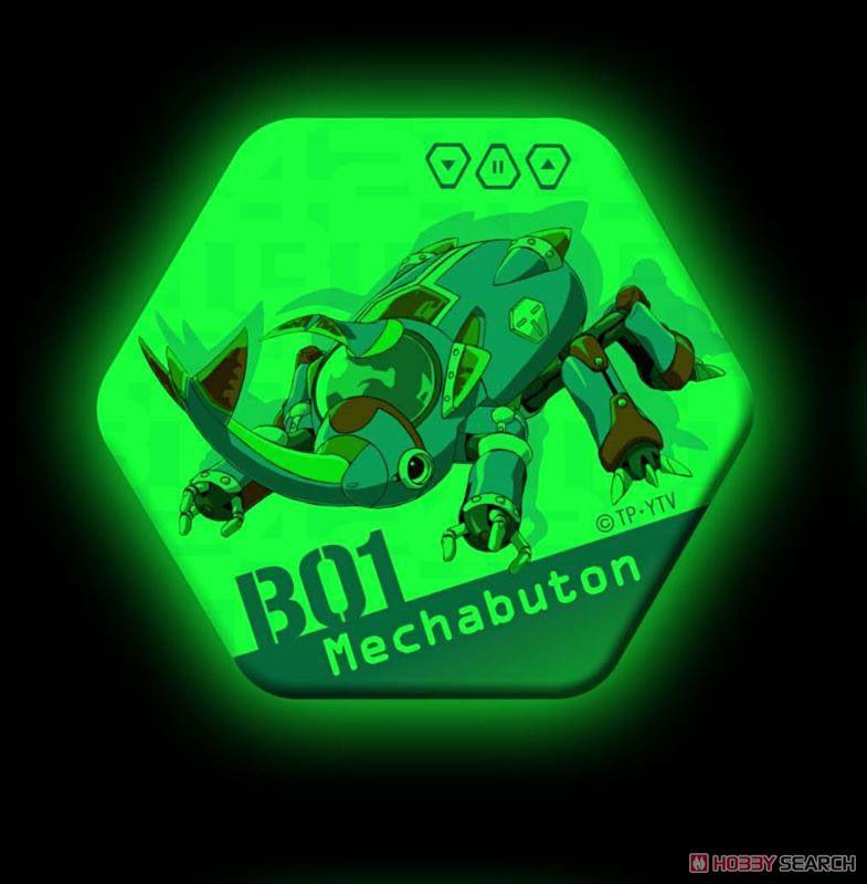 タイムボカン24 ボカンメカ高発光缶バッジ B01メカブトン (キャラクターグッズ)