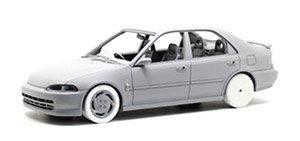 ホンダ シビック EG9 ブルー (ローライド) ホワイト Enkie ES ホイール付 (ミニカー)