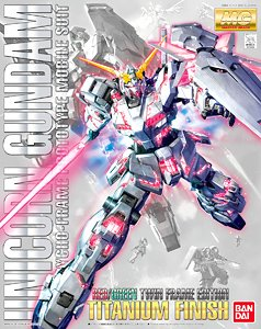 Unicorn Gundam (Red / Green Twin Frame Edition) Titanium Finish (MG) (Gundam Model Kits)