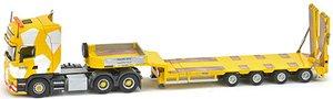 スカニア R4 トップライン 6×4 Goldhofer 4軸 セミ ロー ローダー `Keller + Hess` (ミニカー)