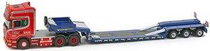 スカニア トップライン 6×4 Goldhofer 3軸 ロー ローダー `Give Hansen` (ミニカー)