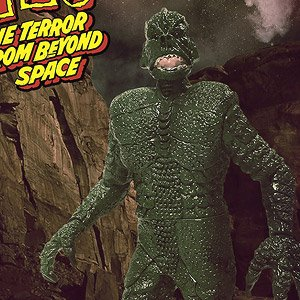 Monstarz モンスターズ/ 恐怖の火星探検: ザ・テラー 火星の吸血獣 3.75インチ レトロ アクションフィギュア エイリアングリーン ver (完成品)