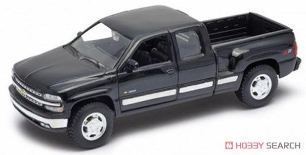 シボレー シルバラード 1999 EXTENDED CAB SPORTSIDE BOX (ブラック) (ミニカー)