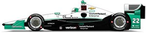 1/64 2016 #22 Simon Pagenaud / Penske Racing, Hewlett Packard (ミニカー)