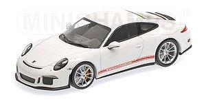 ポルシェ 911R 2016 ホワイト/サイドライン+PORSCHE (ミニカー)