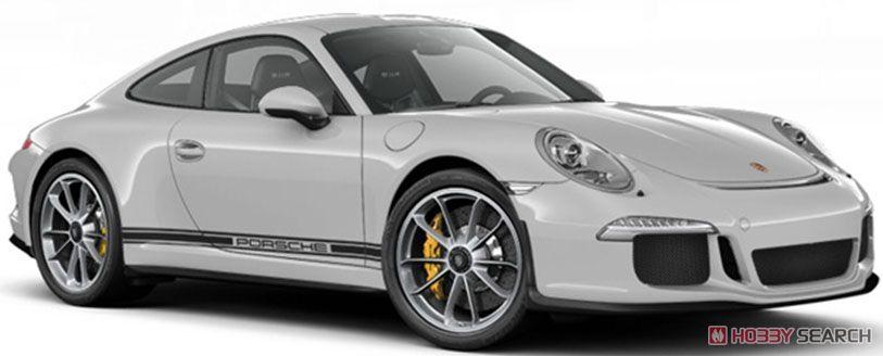 ポルシェ 911R 2016 シルバー/サイドライン+PORSCHE (ミニカー)