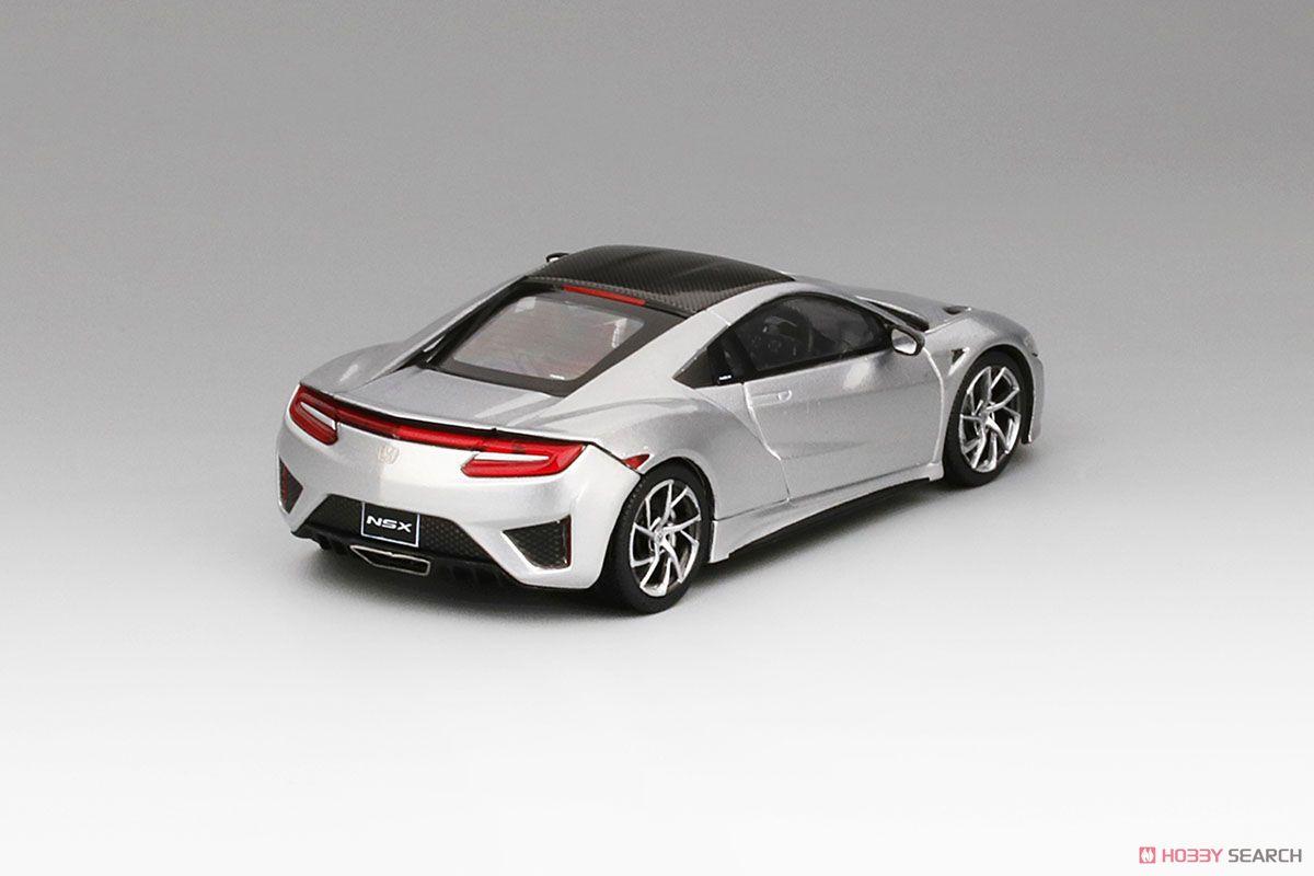 Honda NSX 2017 ソースシルバーメタリック (ミニカー)