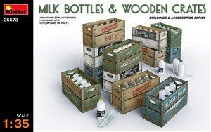 ミルクボトル&木枠箱 (プラモデル)