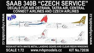 サーブ340B「チェコ航空会社」 (デカール4種) (プラモデル)