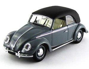 フォルクスワーゲン ビートル 1949 ソフトトップ カブリオレ グレ- (ミニカー)