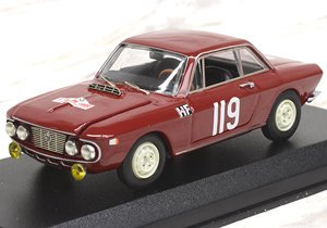 ランチア フルビア クーペ 1.2 HF ツール・ド・コルス 1965 Cella/Gemenara #119 アマラントモンテベロ ランチアラリー公式デビュー車両 (ミニカー)