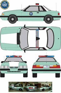 1988 Ford Mustang United States Border Patrol SSP (ミニカー)