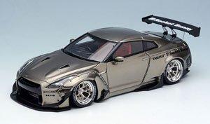 Rocket Bunny R35 GT-R ブラッククローム/HREホイール (ミニカー)