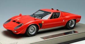 ランボルギーニ JOTA(イオタ) 1970 - Later Ver. - ブライトレッド (ミニカー)