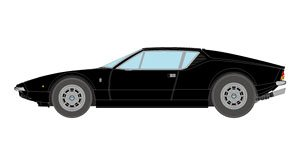 De Tomaso Pantera L ブラック (ミニカー)
