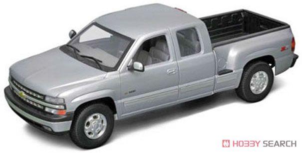 シボレー シルバラード 1999 EXTENDED CAB SPORTSIDE BOX (シルバー) (ミニカー)