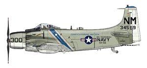 A-1H スカイレイダー `VA-52 ナイト・ライダーズ` (完成品飛行機)