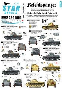 WWII独 I/II号指揮戦車 デカールセット (プラモデル)