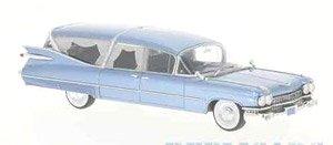 キャデラック S&S Superior Landau 霊柩車 1959 メタリックブルー (ミニカー)