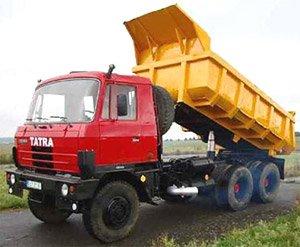 Tatra 815 トラック (イエロー/レッド) (ミニカー)