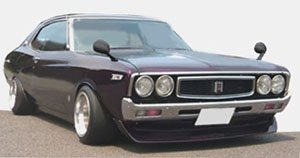 Nissan Laurel 2000SGX (C130) Purple (ミニカー)