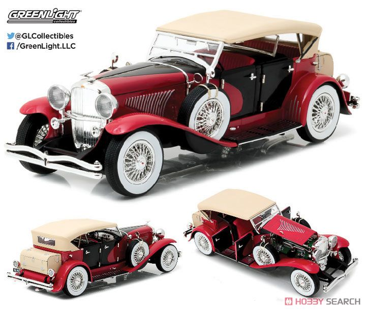 Duesenberg II SJ - Red and Black (ミニカー)