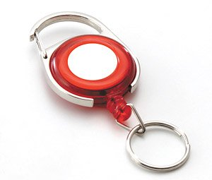 Reel Key with  Carabiner Red (Educational)