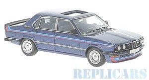 BMW M535i 1978 ダークブルー/ホワイト (ミニカー)