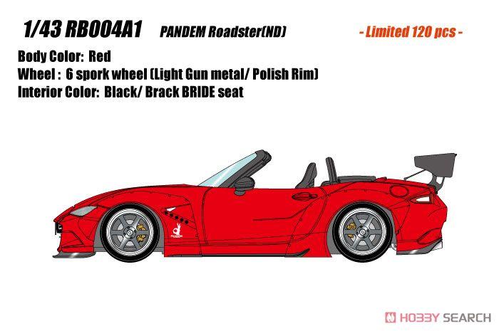 PANDEM ROADSTER (ND) レッド / 6 spork Wheel (ライトガンメタル/ポリッシュリム) (ミニカー)