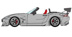 PANDEM ROADSTER (ND) マットライトグレー / 6 spork Wheel (ブラック/ポリッシュリム) (ミニカー)