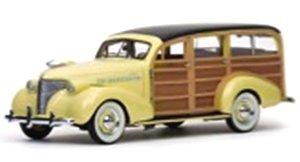 シボレー ウッディ ステーションワゴン 1939 イタリアン クリーム (ミニカー)
