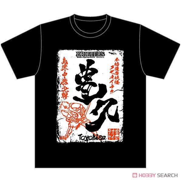 『ドリフターズ』 Tシャツ 豊久ラベル柄 M (キャラクターグッズ)