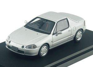 Honda CR-X delsol SiR (1992) ボーグシルバー・メタリック (ミニカー)