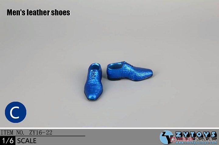 ZY-TOYS 1/6 メンズドレスシューズ C (ブルー) (ZY16-22C) (ドール)