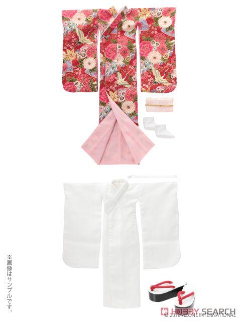 AZO2 裾引き着物セット ~絢爛華麗~ (紅色) (ドール)
