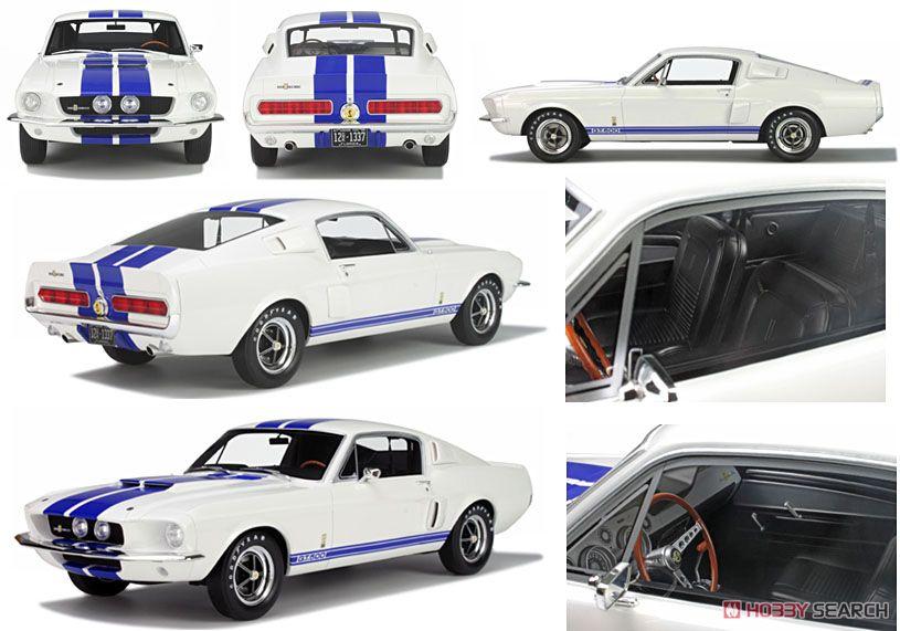 フォード マスタング シェルビー GT500 (ホワイト/ブルーライン) (ミニカー)