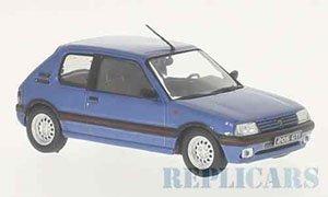 プジョー 205 GTI 1992 メタリックブルー (ミニカー)