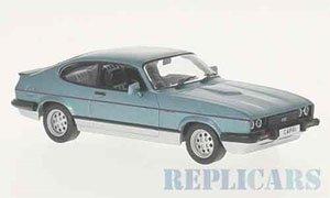 フォード カプリ MKIII 2.8 インジェクション 1982 メタリックブルー/シルバー (ミニカー)