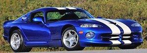 ダッジ バイパー GTS 1996 (メタリックブルー/ホワイトライン) (ミニカー)